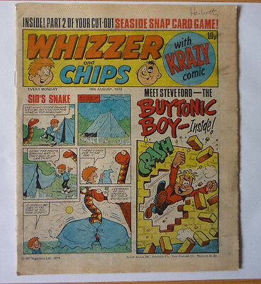Whizzer And Chips 18 Aug 1979 Issue - British Weekly - Good Condition