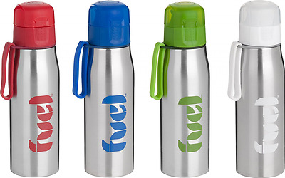 Trudeau Fuel Stainless Steel III Bottle with Handle and Cover