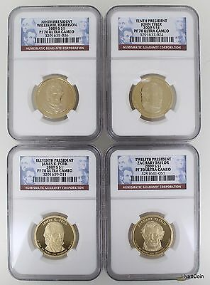 2009-S Proof Presidential Dollar $1 NGC PF70 Ultra Cameo 4 Coin Set