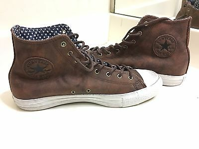 RARE Converse All Star Chuck Taylor Brown Leather High Top Men 8.5 Women 10.5