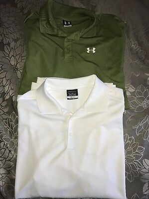 Lot of 2 Men's Dry Fit/Golf Shirts Under Armour, Nike Size XL
