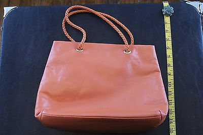 DESMO Beautiful Peach Colored Leather Shoulder, Hand Bag Made In Italy