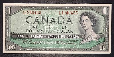 Canada 1954 $1 One Dollar Bank Note K/N1240455 Crisp EXTREMELY FINE