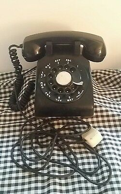BELL SYSTEM/ Western Electric Black Rotary 60's Lan Line phone