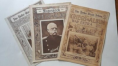 WW1 German American Weekly Photo Magazines ( 20 ) New Yorker Staats Beilung