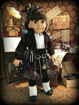 OOAK Steampunk Victorian Outfit for American Girl and other 18-Inch Dolls