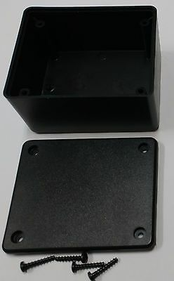 2 pcs USA black Plastic Electronic Project Box Enclosure case 3 x 2.5 x 1.6 in