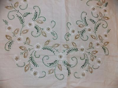 Jacobean Style Tablecloth Hand Embroidered Vintage