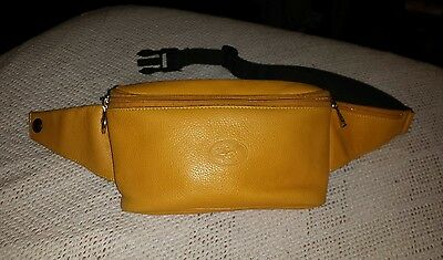 Longchamp Tan Leather Hip bag waist bag Fanny Pack With Logo Made In France
