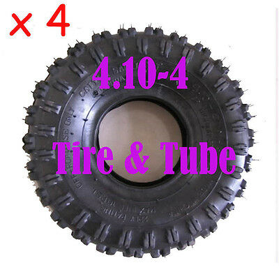 4 set 4.10-4 3.50-4 Tire Tyre and Tube for Go Kart Minibike ATV Scooter Trolley