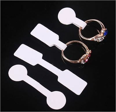 100X White Self Adhesive Jewelry Jewellry Ring Pendant Price Label Tag Sticker