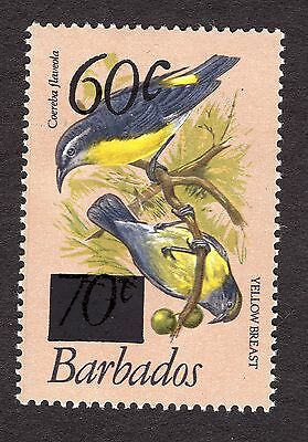 1981 Barbados 70c Bananaquit OPTD 60c SG684 MOUNTED MINT R31472