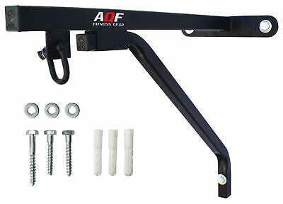 AQF Heavy Duty Punch Bag Wall Bracket Steel Mount Hanging Stand Boxing MMA Black
