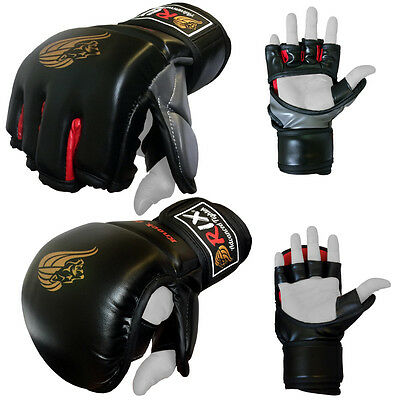 Rix Grappling UFC Fight Kick Boxing Punch Bag Gym Training Pad Strike MMA Gloves