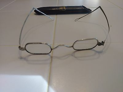 Antique Civil War 1800s Eye Glasses Specticles With Case