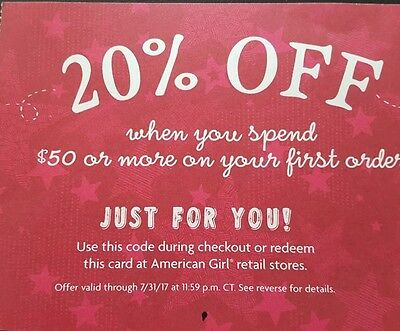 American Girl Coupon 20% Off $50 Or More - eCode
