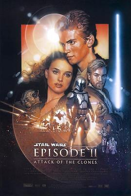 Reproduction Movie Poster on Canvas - Star Wars II - Attack of the Clones