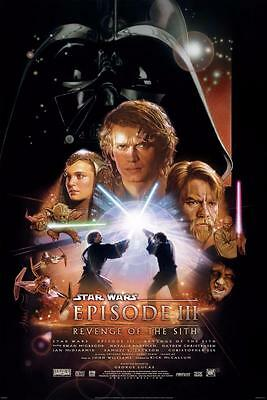 Reproduction Movie Poster on Canvas - Star Wars III - Revenge of the Sith