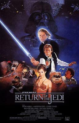 Reproduction Movie Poster on Canvas - Star Wars VI - Return of the Jedi
