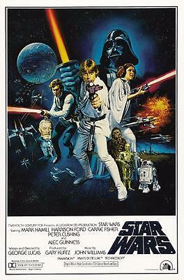Reproduction Movie Poster on Canvas - Star Wars IV - A New Hope