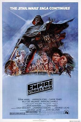 Reproduction Movie Poster on Canvas - Star Wars V - The Empire Strikes Back