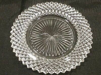 Anchor Hocking Clear Miss America Pattern Depression Glass salad plate