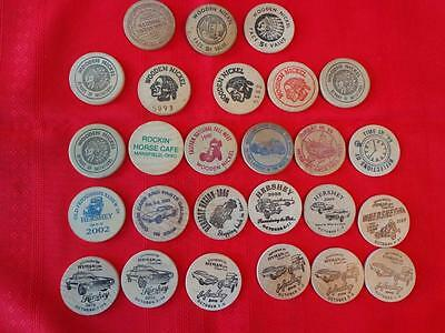 Vintage Wooden Nickles