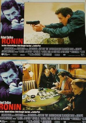 RONIN - 11x14 US Lobby Cards Set - Robert De Niro, Jean Reno, Sean Bean