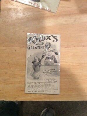 Vintage Card Black Americana. Knows Gelatins Wow