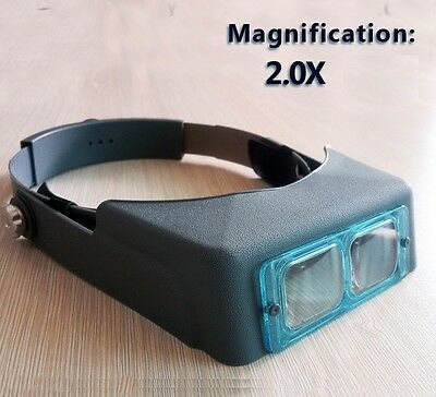 M00071 MOREZMORE 2X Head Wearing Jewelry Magnifier Magnifying Visor Band