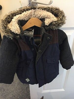 Next Boys Coat And Gilet 12-18 Months