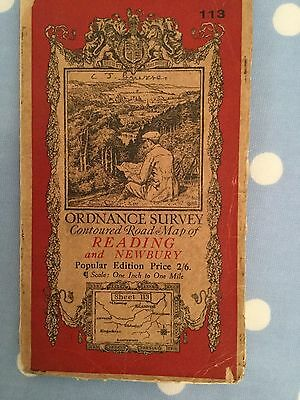 Vintage OS map of Reading