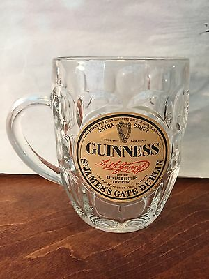 New Guinness 0.5L Glass Beer Mug