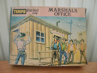 """Timpo Models, Vintage """"wild West City"""", Marshalls Office (Transfers Missing)."""
