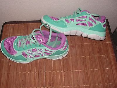 Under Armour  Youth Girls Tennis Shoes Size 5Y Teal Micro