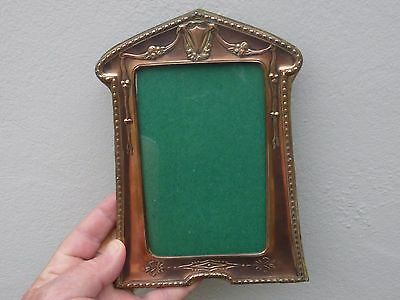An Art Nouveau Copper Photograph Frame c1900