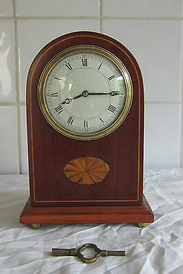 Lovely Domed French Mahogany Timepiece/Clock-Circa 1900