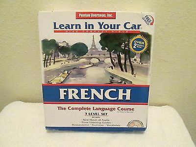 """New Learn In Your Car """"french"""" 3 Level Cd Set By Penton Overseas"""