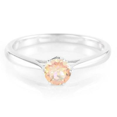 Ring 925 Sterling Silver Size 7 Topaz 0.48ct Natural Gemstone Jewelry