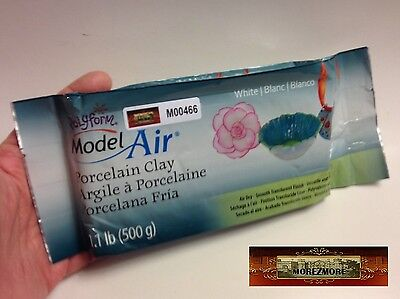 M00466 MOREZMORE 500 g Polyform Model Air Dry Modeling Porcelain Paper clay T20