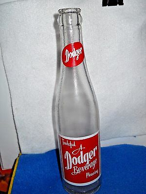 Vintage Dodger Acl Glass Soda Pop Bottle 9 Oz 9 1/2 Inches Tall