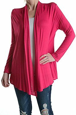 TrendzArt Azules Soft and Light Weight Solid Color Draped Cardigans Made in USA