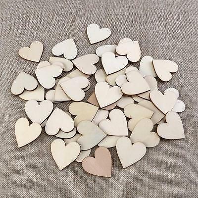 30pcsx40mm Blank Heart Wood Slices Discs Wood Heart Love Blank Unfinished Natura