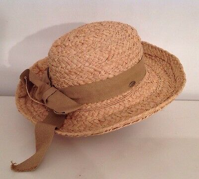 Ladies Scala Collection Straw Hat with Brown Band ~ One Size ~ Summer fashion