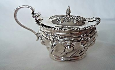 Antique London 1910 Sterling / Solid Silver Mustard Pot