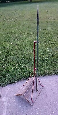 """Antique Cast Iron And Copper Lightning Rod Victorian Style - 52"""" In Height"""