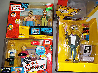 Lot of 3 Simpsons Playmates Sets / 2 NOS, 1 Open Box