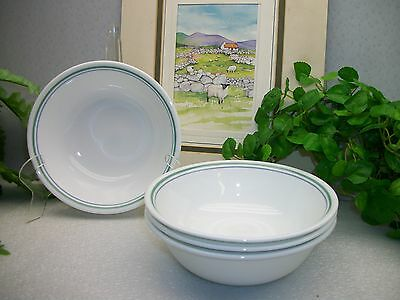 Lot of 4 Corelle Corning Ware COUNTRY COTTAGE Cereal Soup Salad Bowls