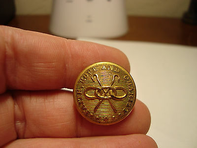 Antique brass UNIFORM Faith, Hope and Charity BKMK Waterbury Button CO button