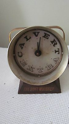 Vintage Calvert Extra Soft Whiskey Clock Working